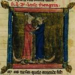 Renart et Ysengrin en costumes de moines